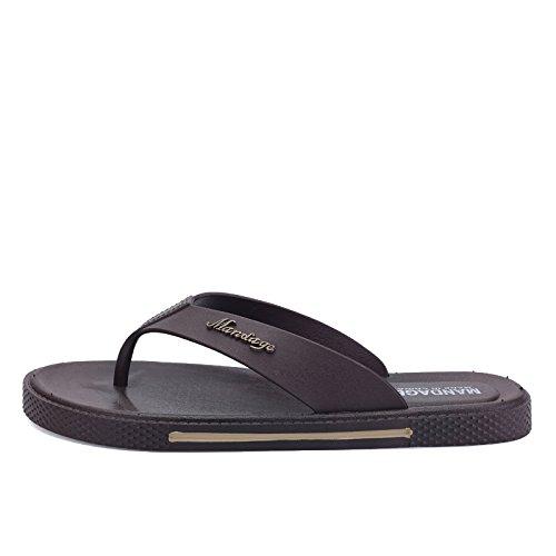 Chaussons, mens words, la ventilation, les chaussures de plage, les pieds des hommes, le froid chaussons Dark brown
