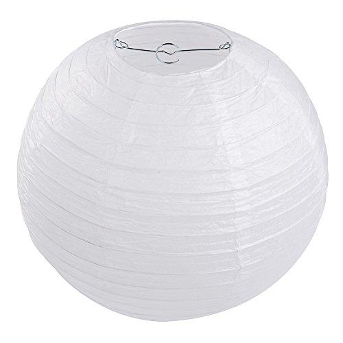 10 x Lampions Papierlaterne weiß (25cm) -