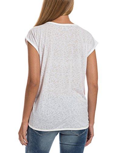 Timezone Damen Top Oversize T-Shirt Weiß (Pure White 100)