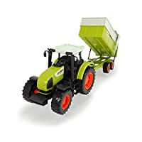 Dickie Toys 203739000 Tractor and Tipping Trailer CLAAS ARES Set, Green