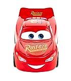 Mattel- Disney Cars-Vehículo Turbocarreras Rayo Mcqueen, Coches de Juguetes niños +3 años FYX40