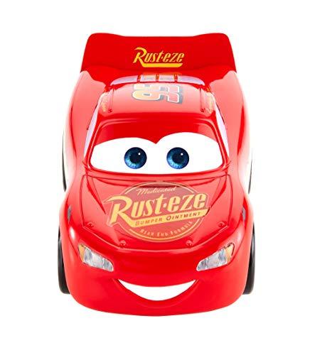 Mattel Disney Cars-Vehículo Turbocarreras Rayo Mcqueen,...