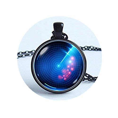 JUN Radarschirm Halskette Military Radar Jewelry Anhänger Radar Radar Bildschirm Anhänger Wissenschaft Jewelry Radar-bildschirm