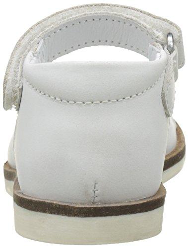 Kickers Gina, Sandales Bébé Fille Blanc (Blanc Argent)