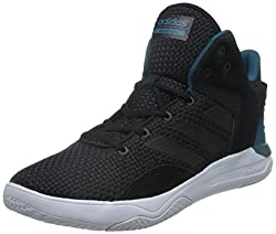 adidas neo Mens Cloudfoam Revival Mid Cblack and Surpet Leather Sneakers - 8 UK/India (42 EU)