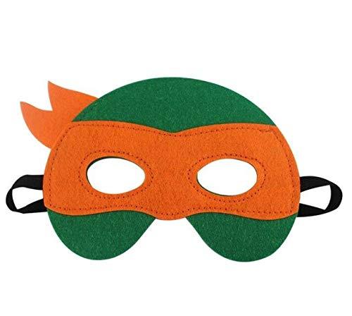 WasJmu Wholesale 1pcs/Lot Teenage Mutant Ninja Turtles Mask Party Cosplay TMNT Halloween Eyes Masks Mutant Ninja Turtles Mask,orange (Ninja Ein Turtle Es Mädchen, Ist)