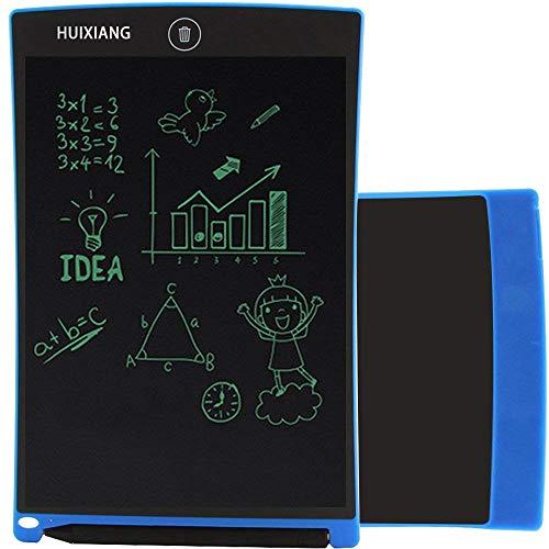 LCD Writing Tablet 8.5 Zoll HUIXIANG Schreibtafel LCD Elektronischer Notizblock Digital Schreiben Tabletten Grafiktablet Weihnachtsgeschenke für Kinder ab 3/5/6/8/10 Jahre Jungen Mädchen Schule,Blau