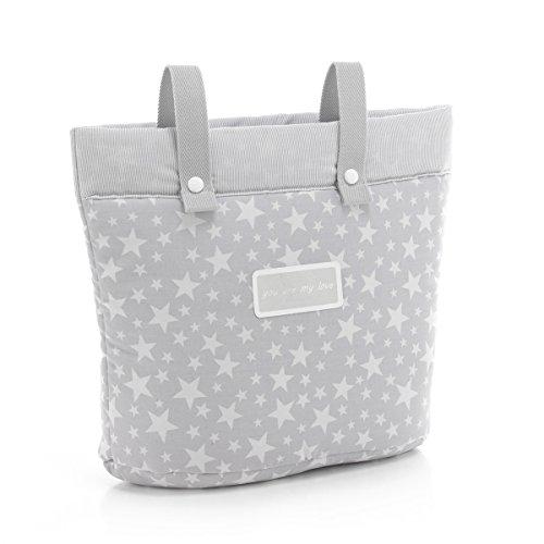 Cambrass Changing Bag/Pram Carrybag (17 x 40 x 34 cm, Star Grey)
