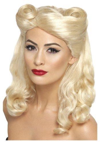 SMIFFY 'S 40S Pin Up Perücke, blond, eine Größe