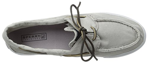 Sperry BAHAMA 2-EYE WASHED Damen Sneakers Grau (Grey)