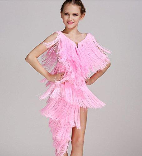 ZHANGQIAN Tanz Rock Kleid Ballett Rock Latin Tanzkleid, Bauchtanz und Andere Mädchen Tanz Röcke Tüll Rock Grün/Pink / Blau/Rot,Pink,S