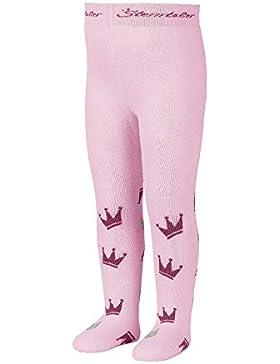 Sterntaler Strumpfhose mit Kronen für Mädchen, Alter: 3-4 Monate, Größe: 62, Pink (Rosa)