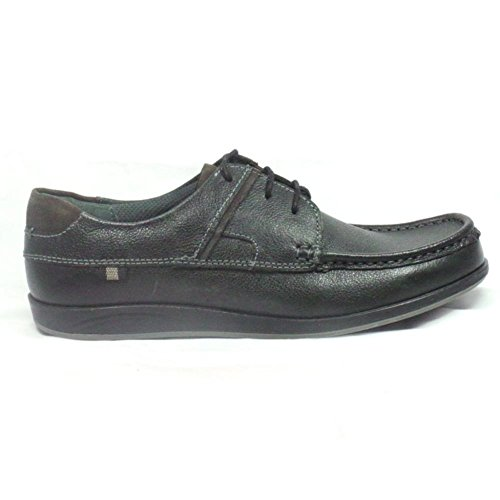Lotus Streatley Black Leather Lace-Up Casual Shoe 6