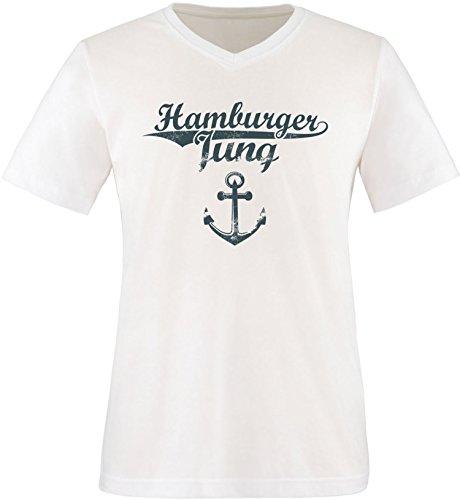 EZYshirt Hamburger Jung & Deern Vol. 2 Herren T-Shirt V-Neck