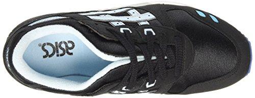 Asics Gel-lyte Iii Gs Unisex-Kinder Sneaker Schwarz (black/crystal Blue 9040)