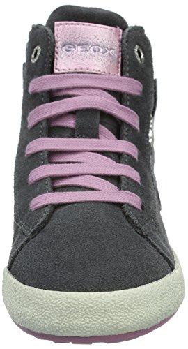 Geox J ALONISSO BOY B, Sneakers Hautes fille Grau (DK GREYC9002)