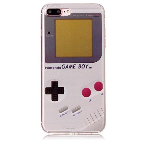"""Coque pour iPhone 7 Plus / 8 Plus ,IJIA Transparent Consoles De Jeux TPU Doux Silicone Bumper Case Cover Shell Housse Etui pour Apple iPhone 7 Plus / 8 Plus (5.5"""") XS68"""
