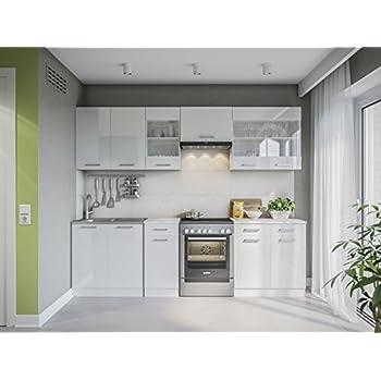 Neu küche martha weißlackiert 260 cm küchenzeile küchenblock einbauküche kueche