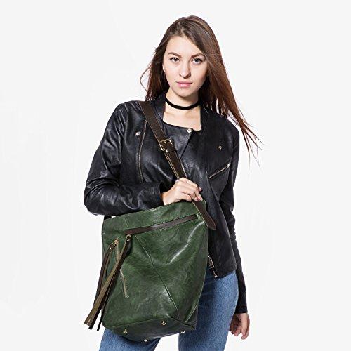 Borse donna borse grandi Borse a secchiello borsa tracolla borse a tracolla secchio borsa borsa crossbody bag verde verde