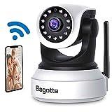 Cámaras IP Wifi, Camaras de Vigilancia Wifi Interior, Bagotte HD P2P Cámara de Seguridad con Visión Nocturna /Detección de Movimiento/Micrófono y Alta
