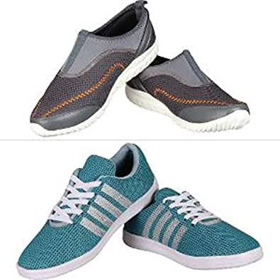 be1c21152 Vogueline Men s Mesh Sports Shoes   Casual Shoes Combo  Buy Online at Low Prices  in India - Amazon.in