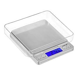 Proster Mini Bilancia Digitale Tascabile 0.01-500g Scala Postale / Bilancino Pesa Oro Gioielli Moneta / Bilancia per…
