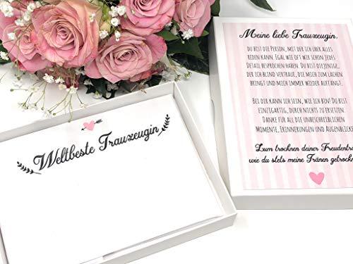 Hochzeit Geschenk Trauzeugin - Taschentuch für Freudentränen (Braut-taschentuch Der Mutter)