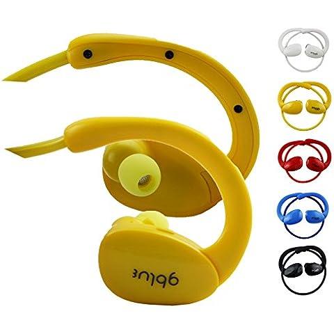 Emartbuy Gblue Giallo S80 Stereo Senza Fili Bluetooth Sportivo Cuffia Auricolari Auricolari Supporta Chiamate in Vivavoce con Microfono Per Highscreen Power Ice Evo / Power Rage Evo