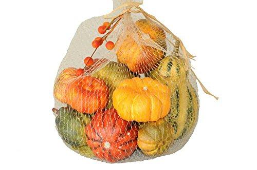 (Künstlicher Kürbis - Streudekoration Halloween - 13 kleine Kürbisse - Handgemacht & Realistisch - Lebensmittel Attrappe - Künstliches Gemüse: Kunstkürbis / Kunststoffkürbis / Dekogemüse)