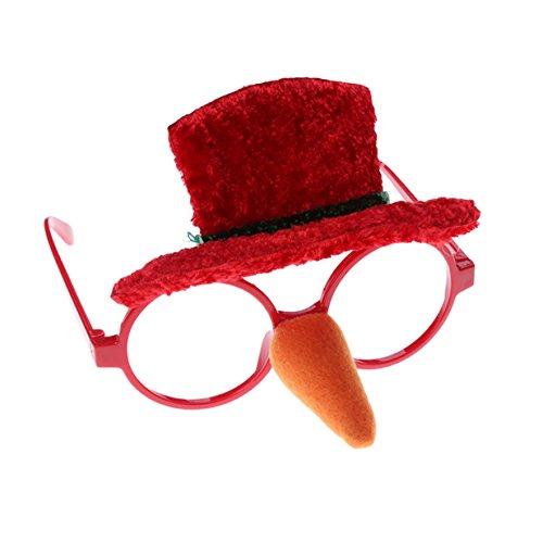 rty-Gläser Lustige Weihnachts Brillen Rahmen Stützen Weihnachts Schmuck Geschenke für Kinder und Erwachsene (Weihnachts Schneemann Hut) (Erwachsenes Schneemann Kostüme)