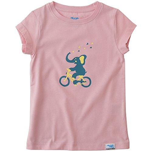 IceDrake Mädchen Kurzarm T-Shirt mit Motiv Elefant Rosa 110/116