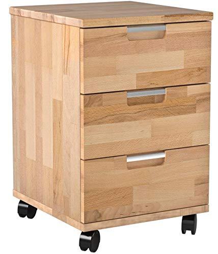 Robas Lund, Schreibtisch- Container, Bürocontainer, Masimo, Kernbuche/Massivholz, 56 x 49 x 43 cm, 40305KB1