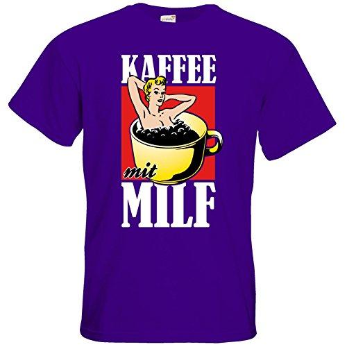getshirts - Rocket Beans TV Official Merchandising - T-Shirt - Kaffee mit MILF Purple