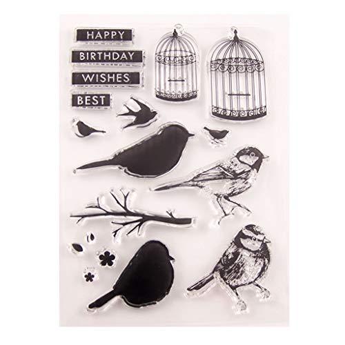 museourstyty Vogelkäfig Silikon klar Siegel Stempel DIY Scrapbooking Präge Fotoalbum dekorative Papier Karte Handwerk Kunst handgemachtes Geschenk (Dekorative Vogelkäfige)
