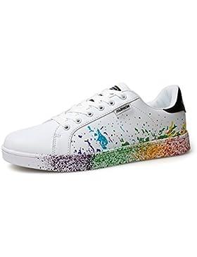 XIANV Mädchen Schuhe Mix Farben Tinte Malerei Stil Frau Schuhe Bunte Weiße Damen Sneaker Paar Schuhe