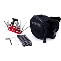 WOTOW Set de reparación de bicicletas Bike al aire libre asiento Saddle Bag Multi Function Tool Kit