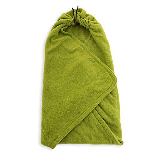 HOPPEDIZ Fleece-Decke für 3 & 5 Punkt-Gurtsysteme Einschlag-/Auto-/Krabbeldecke grün
