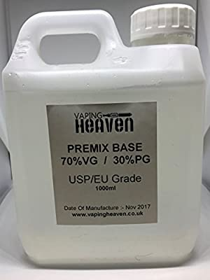 1L 1 Litre | 70/30 VG/PG | Unflavoured DIY E Liquid | VG/PG Base Vape E-Liquid by Vaping Heaven