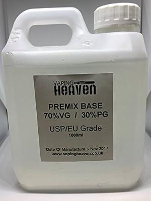 250ml | 70/30 VG/PG | Unflavoured DIY E Liquid | VG/PG Base Vape E-Liquid by Vaping Heaven
