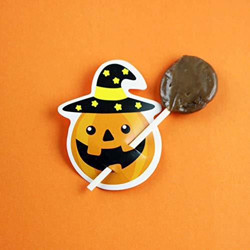 Queta Halloween Kürbis Ghost Lollipop Papier Karte DIY Zucker Karte Dekoration Karte Orange kürbis