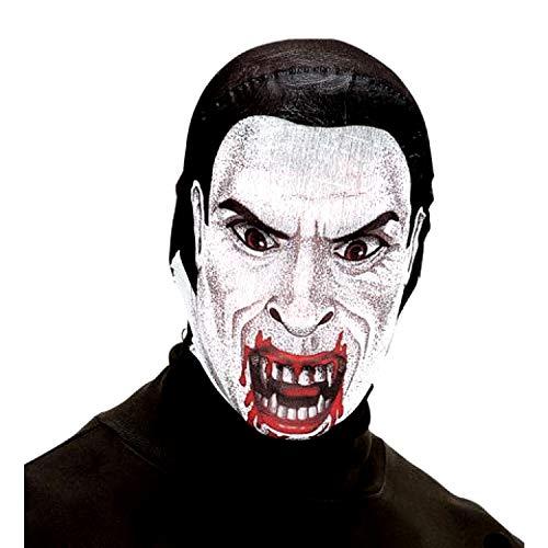 EVRYLON Maschera Dracula Vampiro in Tessuto Mascherina Conte Dracula dell'orrore Accessori per Travestimenti e Costumi di Halloween e Carnevale