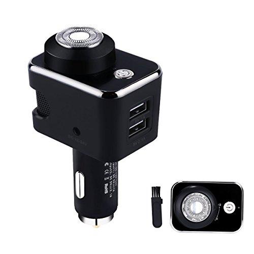 Preisvergleich Produktbild BIHAI 12-24W 5V 3.1A Smart Car Charger mit Elektrorasierer Rasierer für SmartPhones, iPad, Dash Cam, Radar-Detektor etc.
