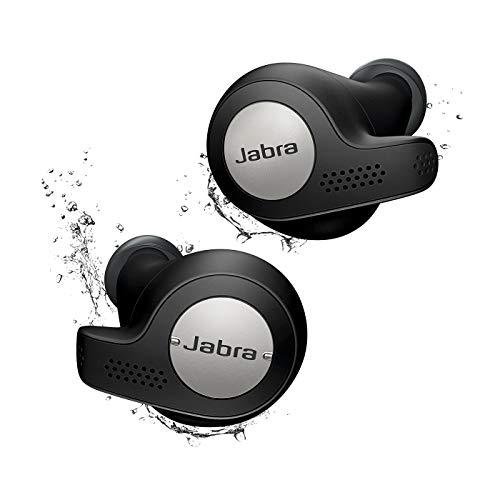 Jabra Elite Active 65t True Wireless Bluetooth Sport Kopfhörer (Musik und telefonieren, bis zu 15 Std. Akkulaufzeit mit Ladecase, Sprachsteuerung für Alexa, Siri, Google Assistant) titanium schwarz