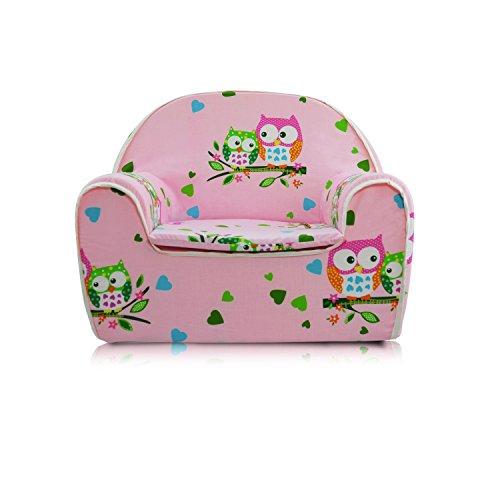 Kindersessel Kinder Sessel Kindersofa Kinder Sofa (06 Eule-rosa)