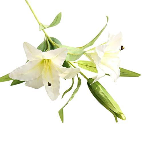 Blumen | Künstliche Deko Blumen Gefälschte Blumen Blumenstrauß | Calla Lilie Für Braut Hochzeitsblumenstrauß für Haus Garten Party Blumenschmuck | Artificial Flowers (Weiß) ()
