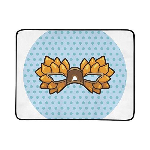 rtei-Masken-Muster tragbare und Faltbare Deckenmatte 60x78 Zoll-handliche Matte für kampierenden Picknick-Strand ()