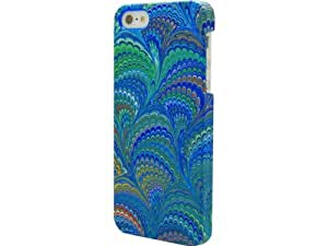 Signature CO7698 Coque pour Apple iPhone 5/5S Motif marbre Bleu