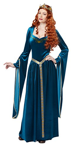 California Costumes Women's Lady Guinevere Costume/Teal, ()