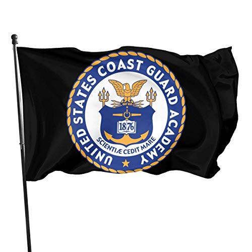 United States Coast Guard Academy Siegel Flagge 3 x 5 ft Boys offizielle Flagge, Sonnenuntergang Wanderer Flagge Banner, perfekt für Tailgates Schlafsäle College Football Burschenschaften Parteien