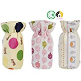 Vijkan Aarushi Soft Feeding Bottle Cover Multicolor And Mix Print (Pack Of 3)